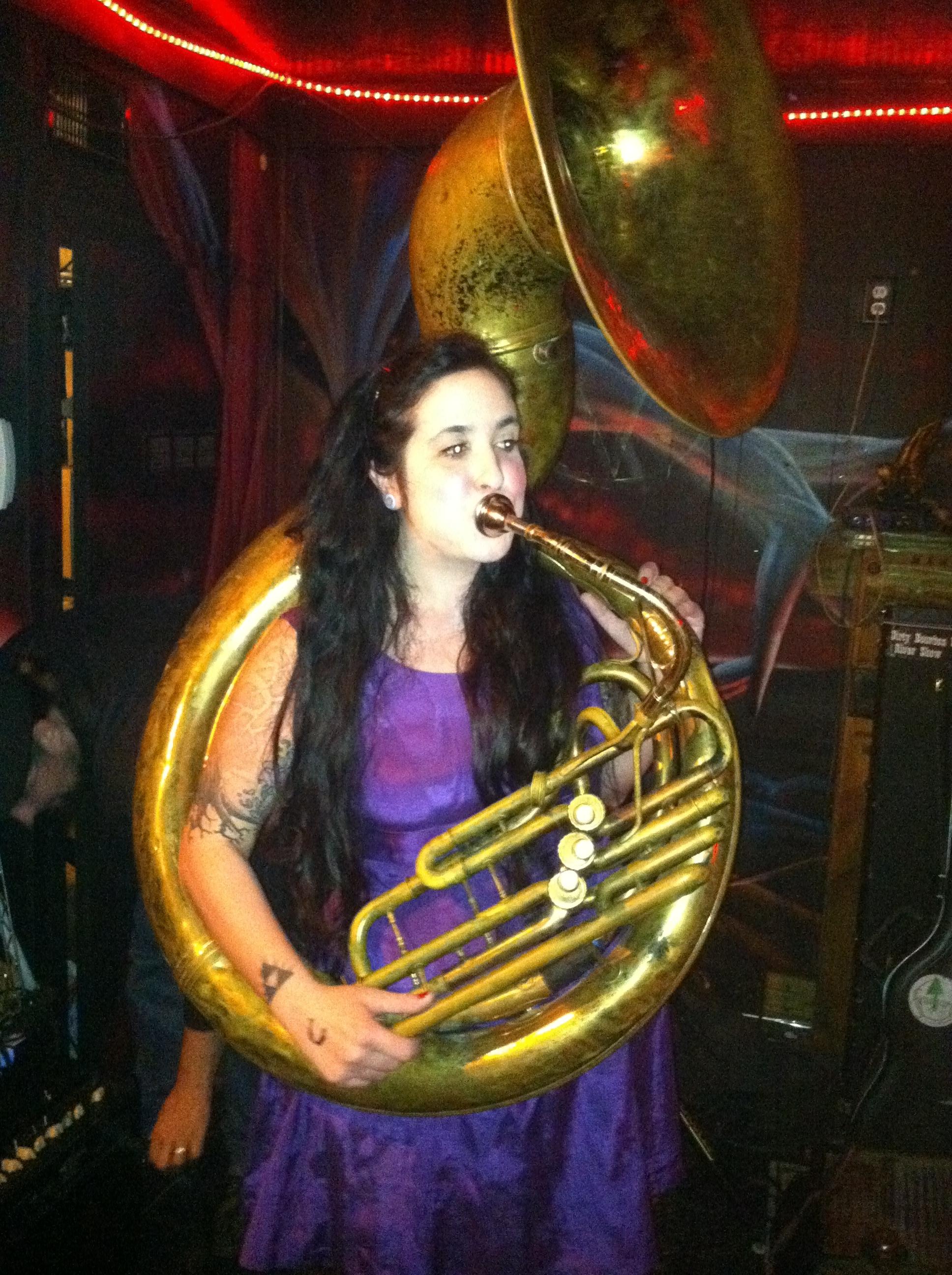 Beautiful Women Playing Tuba Pt. 11
