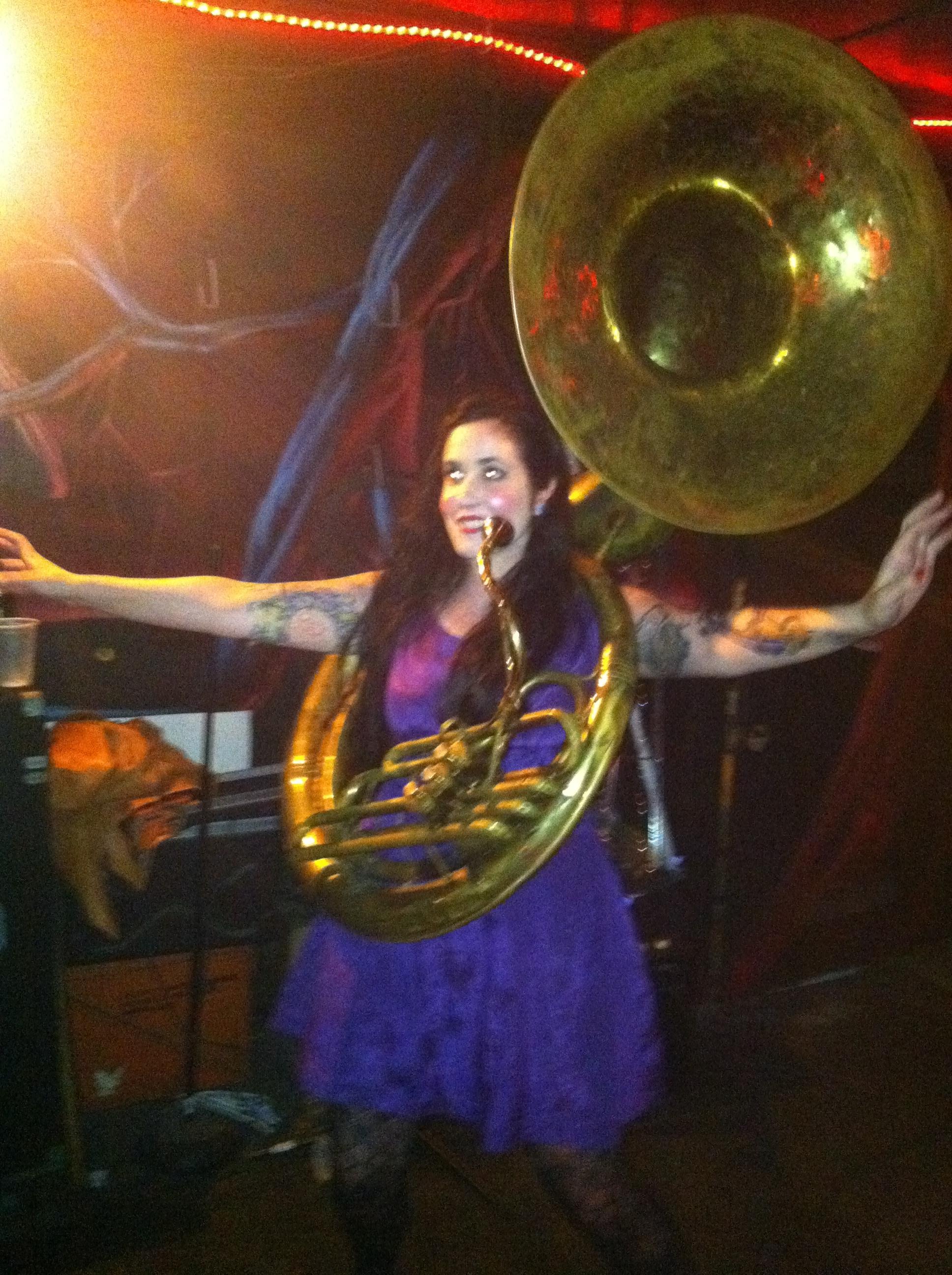 Beautiful Women Playing Tuba Pt 11 Dirty Bourbon River Show