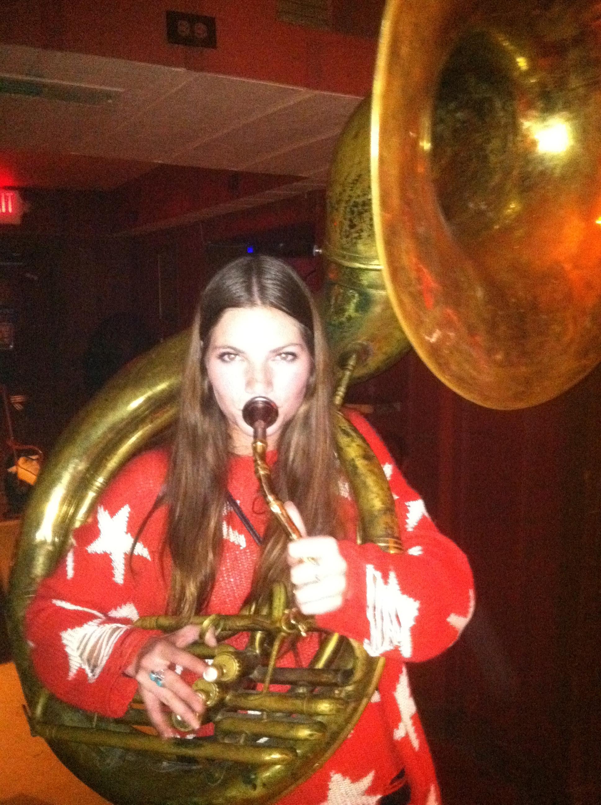 Beautiful Women Playing Tuba Pt 17 Dirty Bourbon River Show