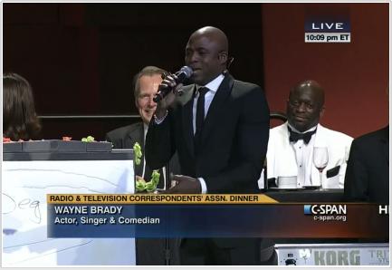 Last year, Wayne Brady... This year, the Dirty Bourbon River Show